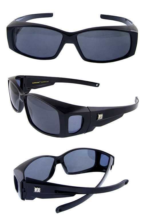 Mens square polarized plastic sunglasses