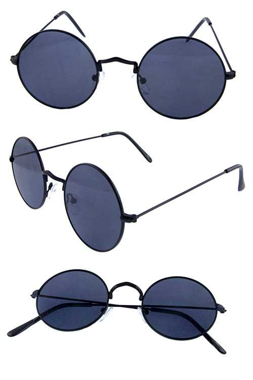 Womens circle metal retro style sunglasses