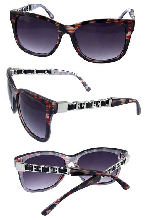 Womens square metal arm detailed sunglasses