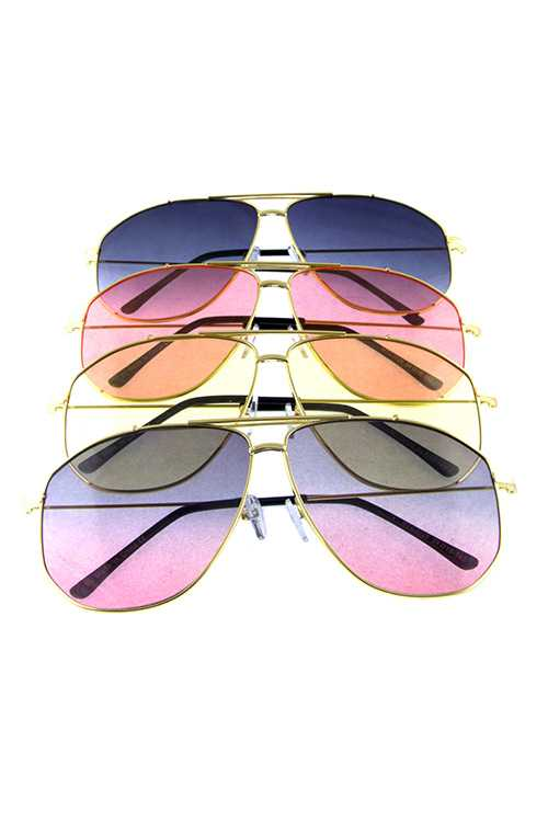 Womens aviator metal fashion sunglasses