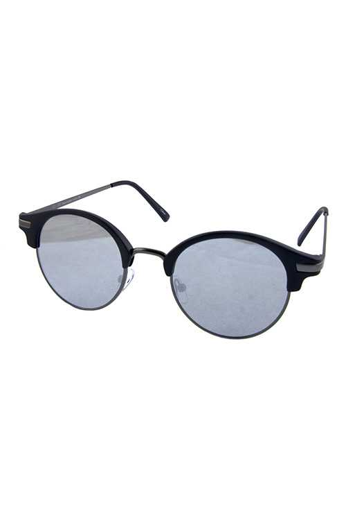Womens horn rimmed rounded sunglasses