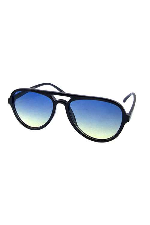 Womens plastic retro aviator sunglasses