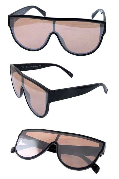 Womens plastic aviator fashion sunglasses