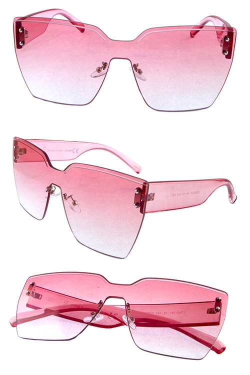 Womens rimless square style sunglasses