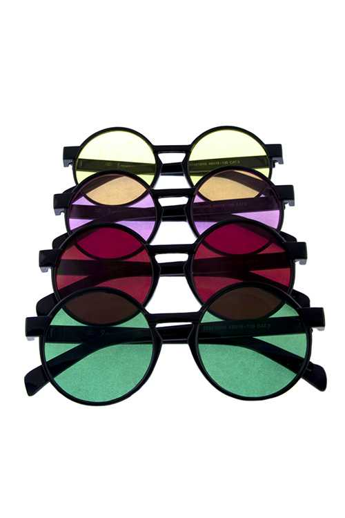Womens geometric rounded circle style sunglasses