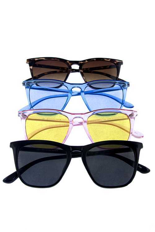 Womens cute horn rimmed square sunglasses