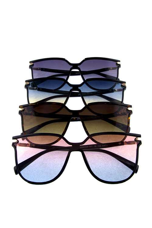 Womens modern square retro plastic sunglasses