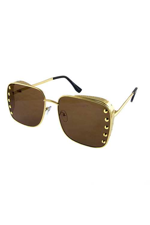 Unisex metal square fully rimmed sunglasses