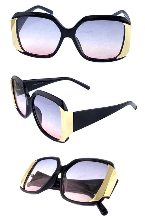 Womens retro square plastic style sunglasses