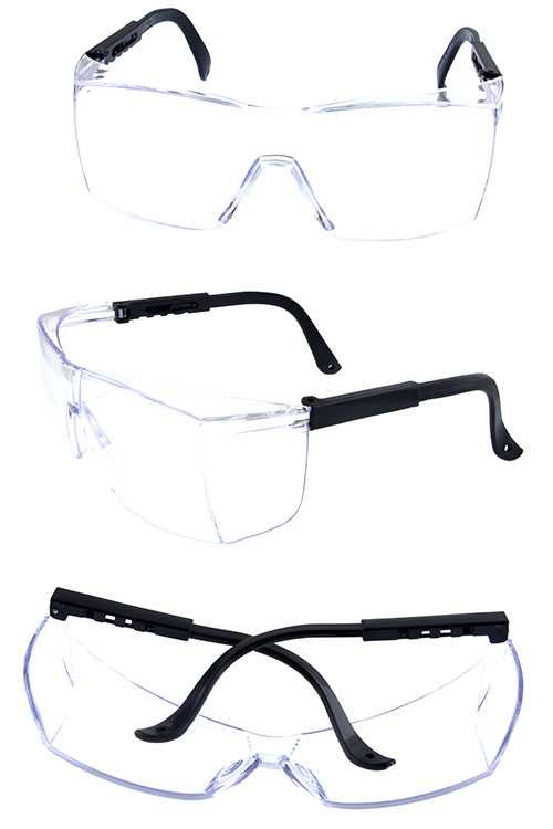 Unisex shield safety style protective glasses