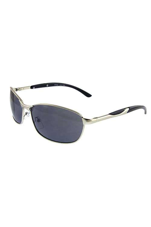 Mens metal square modern style sunglasses