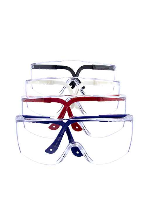 Unisex safety glasses plastic eyewear