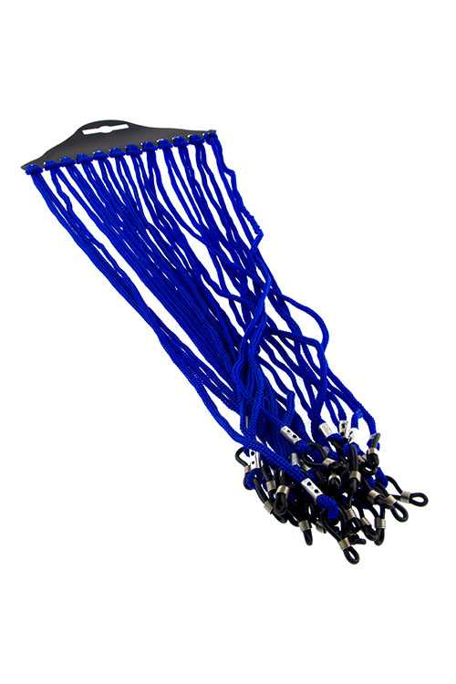 Standard blue eyeglass hanging accessory
