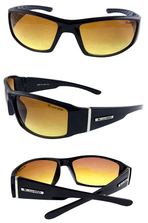 Mens Xloop square active plastic sunglasses