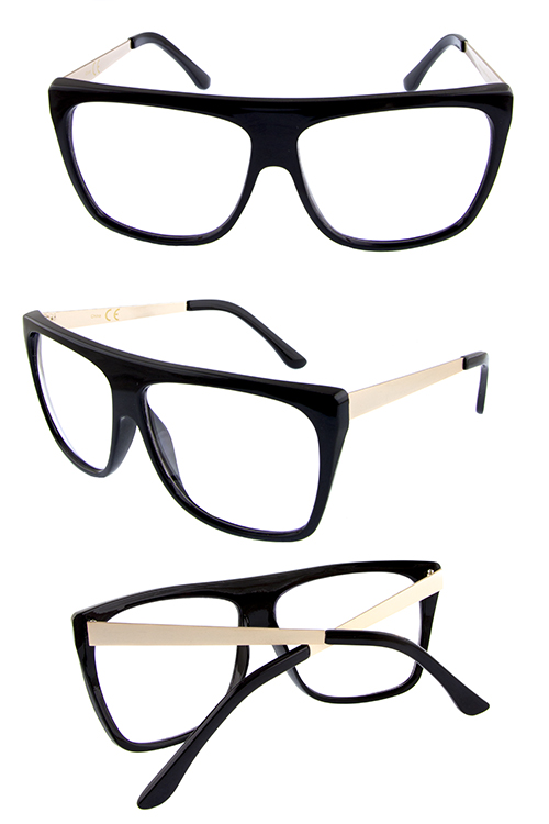 Womens Trendy Clear Lens fashion oversized retro vintage inspire