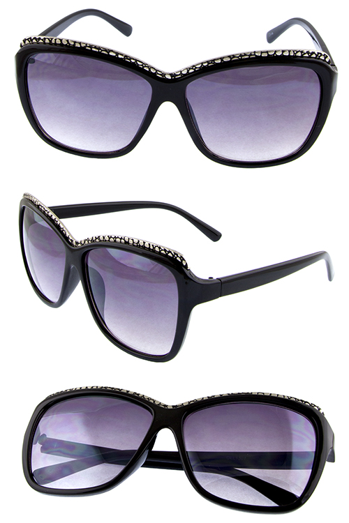 Womens vintage style fashion plastic square sunglasses