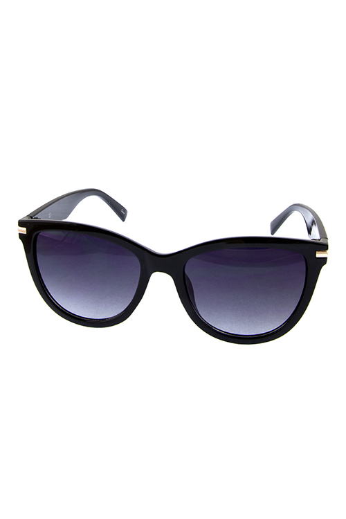 Womens dapper hipster fashion horned plastic sunglasses