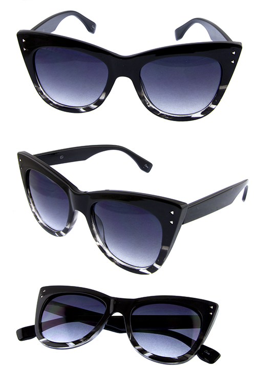 Womens cat eye vintage style high pointed plastic sunglasses