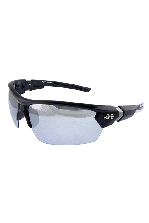 Mens Xloop semi rimmed sports sunglasses