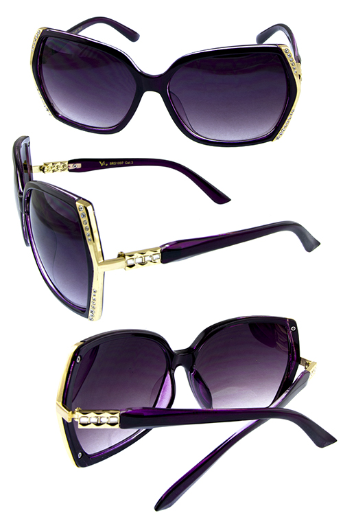 Womens rhinestone square fashion sunglasses