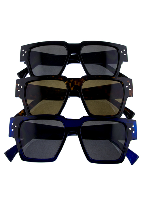 Womens 90s inspired square shaped plastic sunglasses