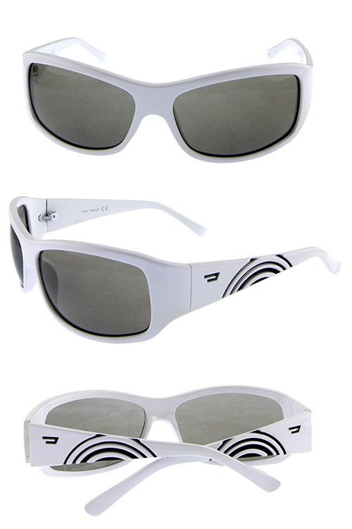 Unisex urban plastic ripple retro sunglasses