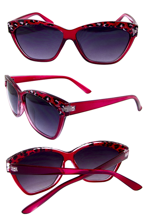 Womens La horned safari style sunglasses