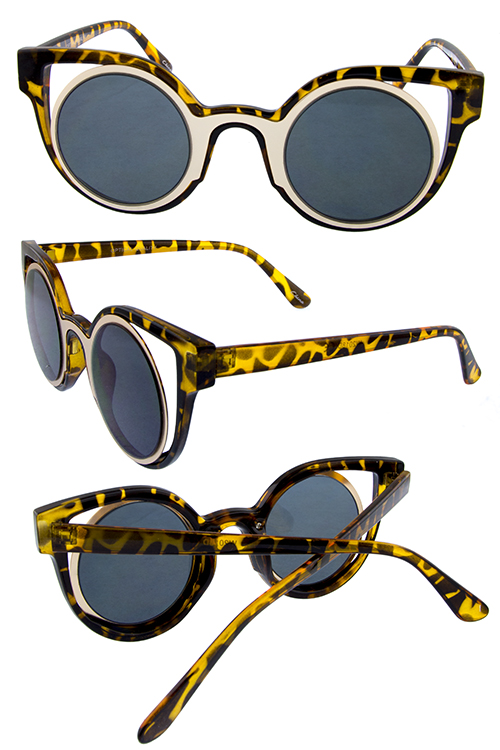 womens circle hipster cat eye cutty sunglasses
