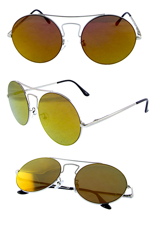Womens metal Round mix rebar sunglasses